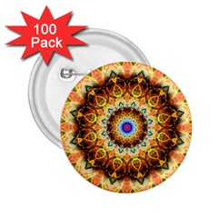 Ochre Burnt Glass 2 25  Button (100 Pack) by Zandiepants