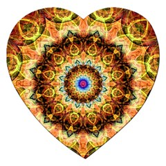 Ochre Burnt Glass Jigsaw Puzzle (heart) by Zandiepants
