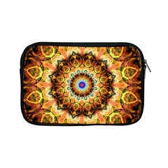 Ochre Burnt Glass Apple Ipad Mini Zippered Sleeve by Zandiepants