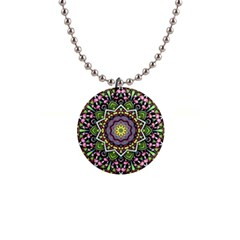 Psychedelic Leaves Mandala Button Necklace by Zandiepants