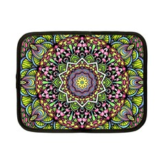 Psychedelic Leaves Mandala Netbook Sleeve (small) by Zandiepants