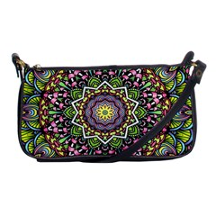 Psychedelic Leaves Mandala Evening Bag by Zandiepants
