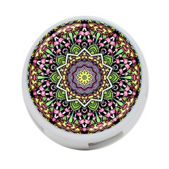 Psychedelic Leaves Mandala 4 Port Usb Hub (two Sides) by Zandiepants