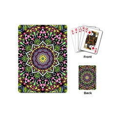 Psychedelic Leaves Mandala Playing Cards (mini) by Zandiepants