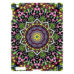 Psychedelic Leaves Mandala Apple Ipad 3/4 Hardshell Case by Zandiepants