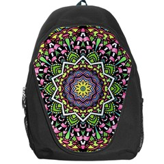 Psychedelic Leaves Mandala Backpack Bag by Zandiepants