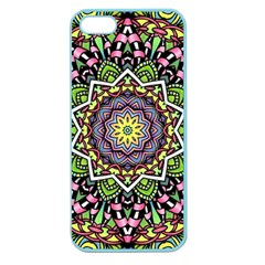 Psychedelic Leaves Mandala Apple Seamless Iphone 5 Case (color) by Zandiepants
