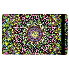Psychedelic Leaves Mandala Apple Ipad 2 Flip Case by Zandiepants