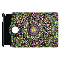 Psychedelic Leaves Mandala Apple Ipad 2 Flip 360 Case by Zandiepants