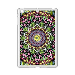 Psychedelic Leaves Mandala Apple Ipad Mini 2 Case (white) by Zandiepants