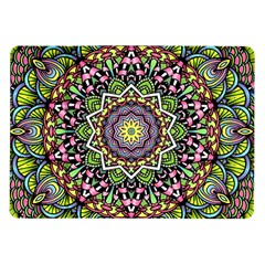 Psychedelic Leaves Mandala Samsung Galaxy Tab 10 1  P7500 Flip Case by Zandiepants