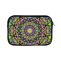 Psychedelic Leaves Mandala Apple Ipad Mini Zippered Sleeve by Zandiepants