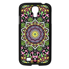 Psychedelic Leaves Mandala Samsung Galaxy S4 I9500/ I9505 Case (black) by Zandiepants