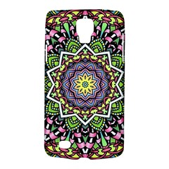 Psychedelic Leaves Mandala Samsung Galaxy S4 Active (i9295) Hardshell Case by Zandiepants