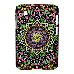 Psychedelic Leaves Mandala Samsung Galaxy Tab 2 (7 ) P3100 Hardshell Case  by Zandiepants