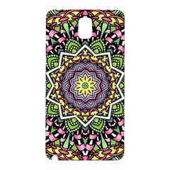Psychedelic Leaves Mandala Samsung Galaxy Note 3 N9005 Hardshell Back Case by Zandiepants