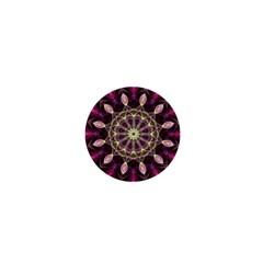 Purple Flower 1  Mini Button Magnet by Zandiepants