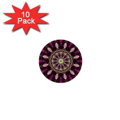 Purple Flower 1  Mini Button (10 Pack) by Zandiepants
