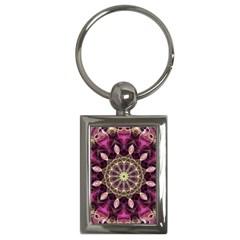 Purple Flower Key Chain (rectangle) by Zandiepants