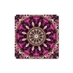 Purple Flower Magnet (square) by Zandiepants
