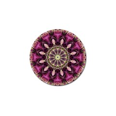 Purple Flower Golf Ball Marker by Zandiepants