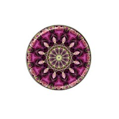 Purple Flower Golf Ball Marker (for Hat Clip) by Zandiepants