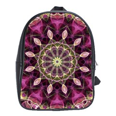 Purple Flower School Bag (large) by Zandiepants