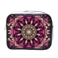 Purple Flower Mini Travel Toiletry Bag (one Side) by Zandiepants