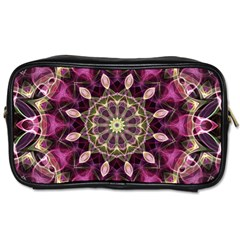 Purple Flower Travel Toiletry Bag (one Side) by Zandiepants