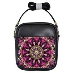Purple Flower Girl s Sling Bag by Zandiepants