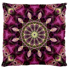 Purple Flower Large Cushion Case (single Sided)  by Zandiepants