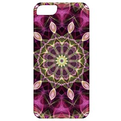 Purple Flower Apple Iphone 5 Classic Hardshell Case by Zandiepants