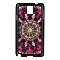 Purple Flower Samsung Galaxy Note 3 N9005 Case (black) by Zandiepants