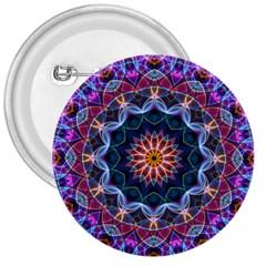 Purple Lotus 3  Button by Zandiepants