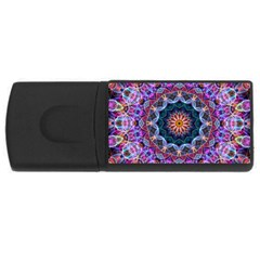 Purple Lotus 4gb Usb Flash Drive (rectangle) by Zandiepants