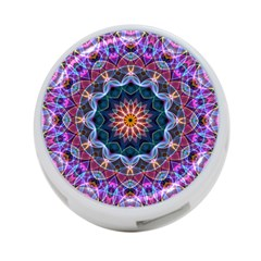 Purple Lotus 4-Port USB Hub (One Side) by Zandiepants