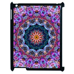Purple Lotus Apple Ipad 2 Case (black) by Zandiepants