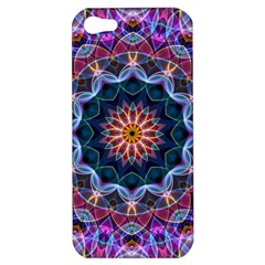 Purple Lotus Apple Iphone 5 Hardshell Case by Zandiepants