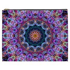 Purple Lotus Cosmetic Bag (xxxl) by Zandiepants