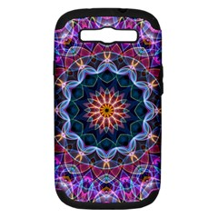 Purple Lotus Samsung Galaxy S Iii Hardshell Case (pc+silicone) by Zandiepants