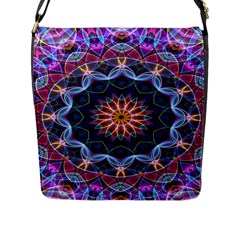 Purple Lotus Flap Closure Messenger Bag (large) by Zandiepants