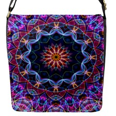 Purple Lotus Flap Closure Messenger Bag (small) by Zandiepants