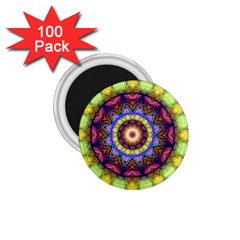Rainbow Glass 1 75  Button Magnet (100 Pack) by Zandiepants
