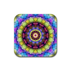 Rainbow Glass Drink Coaster (square)