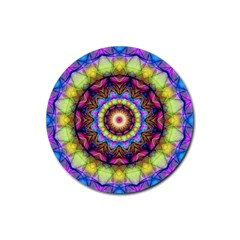 Rainbow Glass Drink Coaster (round) by Zandiepants