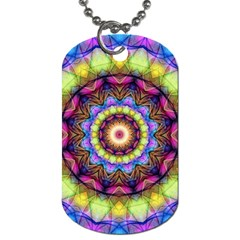 Rainbow Glass Dog Tag (two Sided)  by Zandiepants