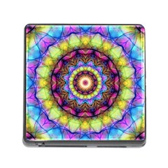 Rainbow Glass Memory Card Reader With Storage (square) by Zandiepants