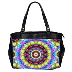 Rainbow Glass Oversize Office Handbag (two Sides)