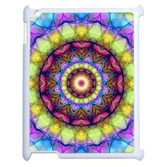 Rainbow Glass Apple Ipad 2 Case (white) by Zandiepants
