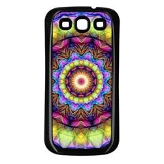 Rainbow Glass Samsung Galaxy S3 Back Case (black) by Zandiepants